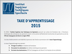 Verser la taxe d'apprentissage vers la section Machiniste Constructeur