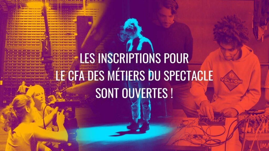 Ouverture des inscriptions pour le CFA des Métiers du Spectacle